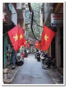 Drapeau vietnam hanoi