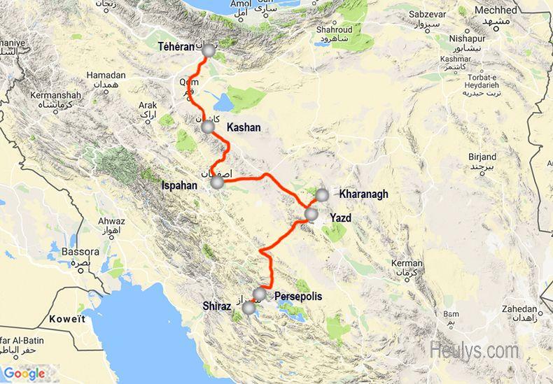 Itineraire iran