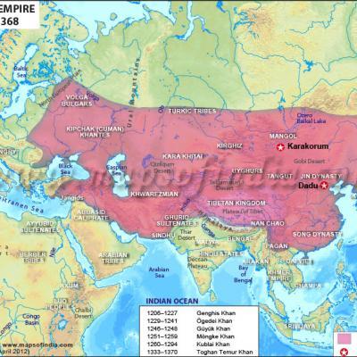Mongol dynasty map